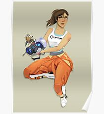 Chell and Potato GLADoS Poster