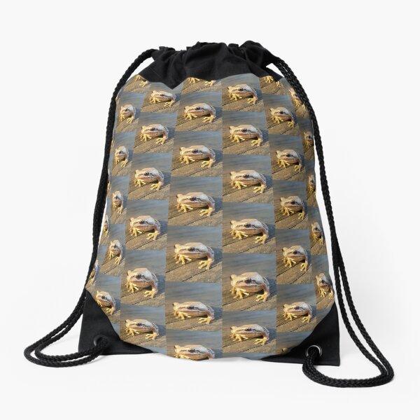 Golden Frog  Drawstring Bag