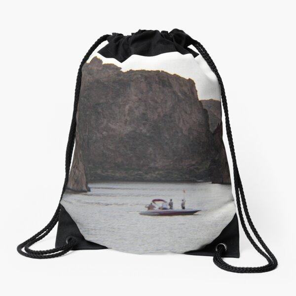 A lost companion Drawstring Bag