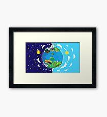 Paper Mario World Mashup Poster Framed Print