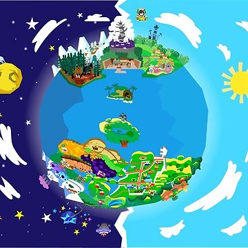 Paper Mario World Mashup Poster by LegendaryHero96