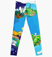 Paper Mario World Mashup Poster Leggings