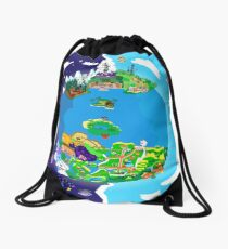 Paper Mario World Mashup Poster Drawstring Bag