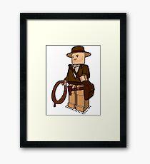 Lego Indiana Jones Harrison Ford Adventure Treasure Framed Print