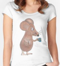 Mouse Don't Care Women's Fitted Scoop T-Shirt