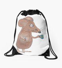 Mouse Don't Care Drawstring Bag