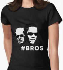 Barrack Obama & Joe Biden Bros Womens Fitted T-Shirt