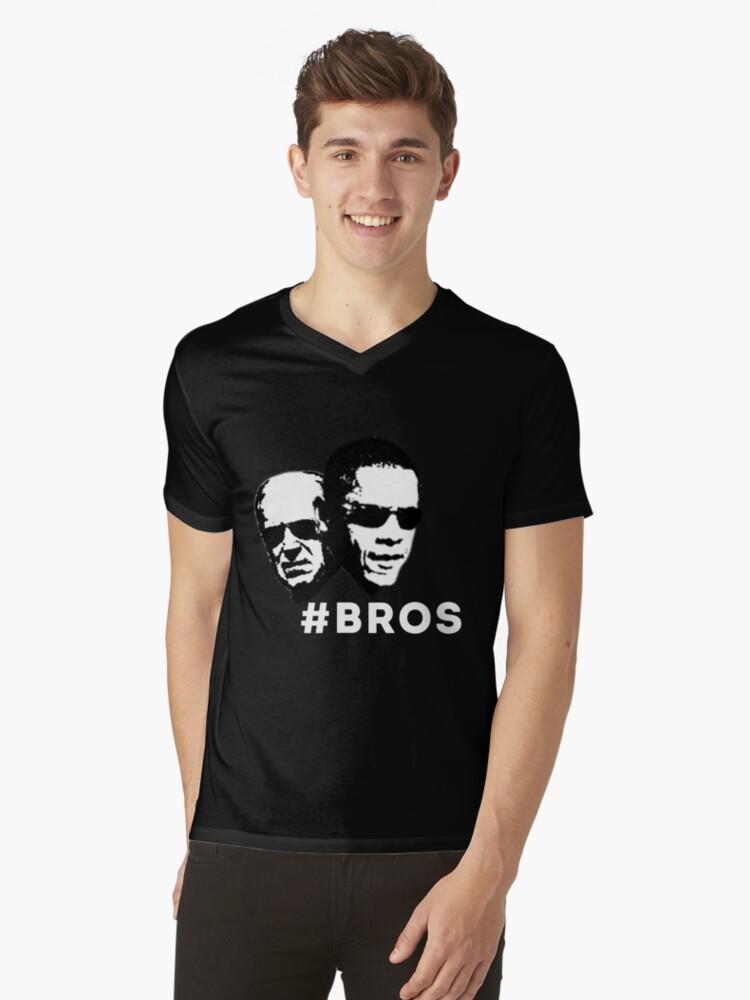 Barrack Obama & Joe Biden Bros Mens V-Neck T-Shirt Front