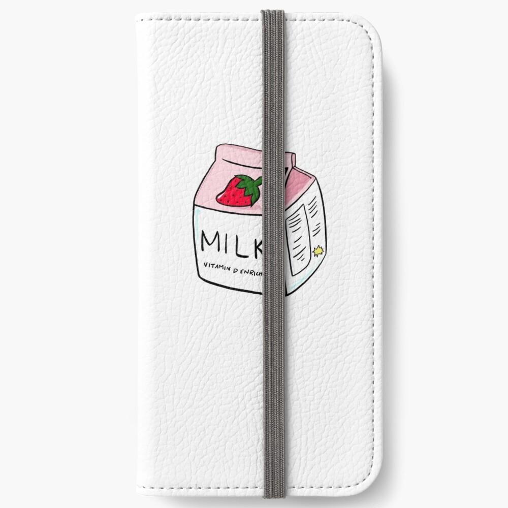 Erdbeermilch iPhone Flip-Case