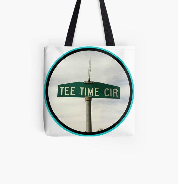 Tee Time Circle All Over Print Tote Bag