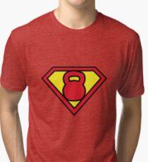 Super Kettlebell  Tri-blend T-Shirt
