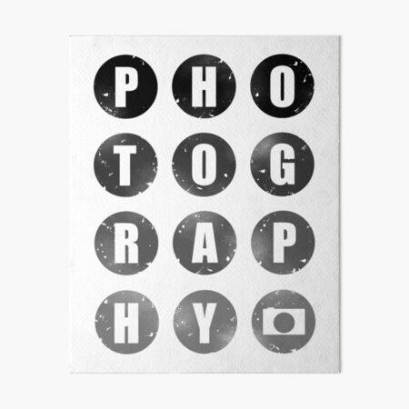 Photography Art Board Print