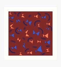 bowties v3 Art Print