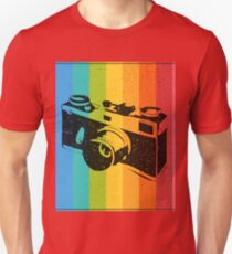 The old camera on rainbow background T-Shirt