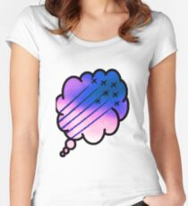 Dreaming of the sky Women's Fitted Scoop T-Shirt