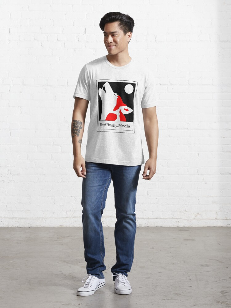 Alternate view of Red Husky Media Logo Essential T-Shirt