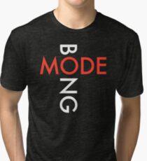 Mode Bong white DM logo Tri-blend T-Shirt