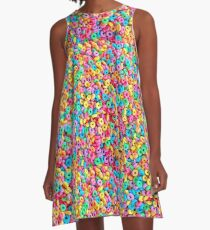 Froot Loops A-Line Dress