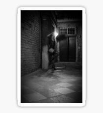 Night wandering 3 - black and white high resolution Sticker