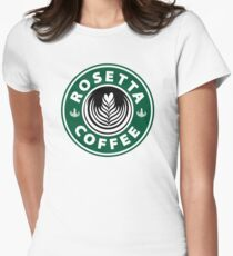 Rosetta Starbucks  Womens Fitted T-Shirt