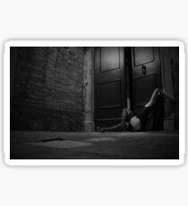 night wanderer - black and white Sticker