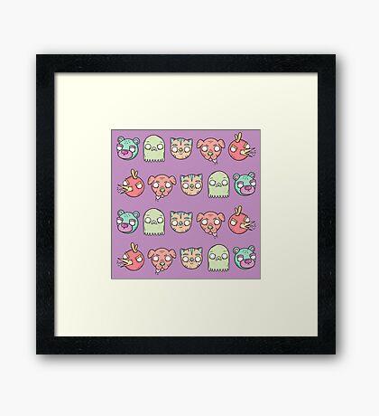 Animal Line Up Framed Print