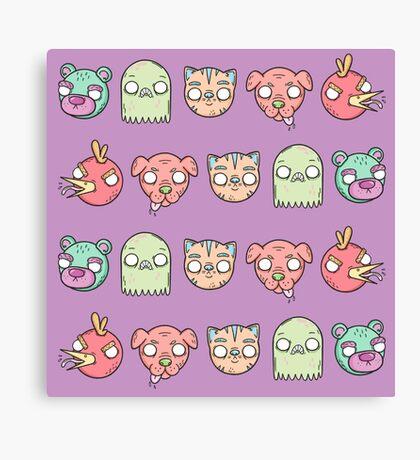 Animal Line Up Canvas Print