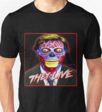 THEY LIVE - Red & Blue T-Shirt