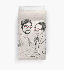 Love Glasses <3 Duvet Cover