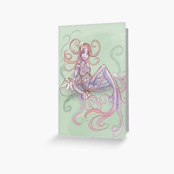 Lady Plum Tree Greeting Card