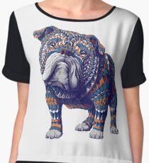 English Bulldog (Color Version) Women's Chiffon Top