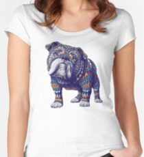 English Bulldog (Color Version) Women's Fitted Scoop T-Shirt