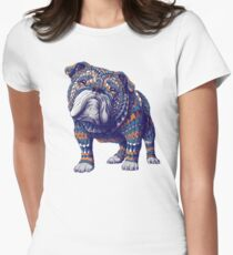 English Bulldog (Color Version) Women's Fitted T-Shirt
