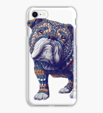 English Bulldog (Color Version) iPhone Case/Skin