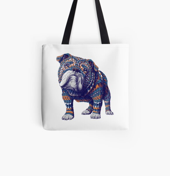 English Bulldog (Color Version) All Over Print Tote Bag