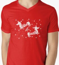 Merry & Bright Christmas Mens V-Neck T-Shirt