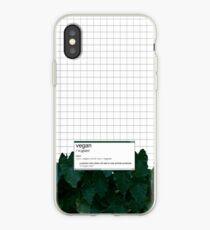 vegan (noun)  iPhone Case