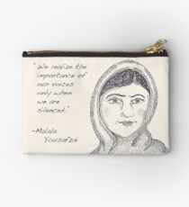 Malala Yousafzai - Voices (monochrome) Zipper Pouch