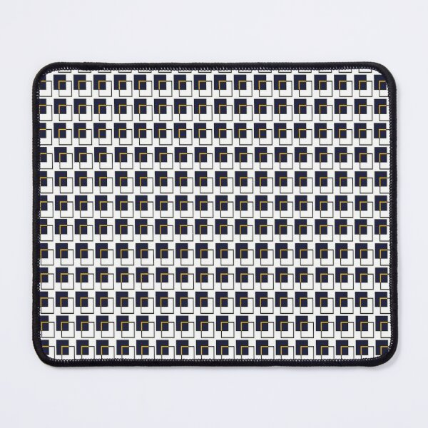 Square Blue & Yellow Pattern Art Mouse Pad