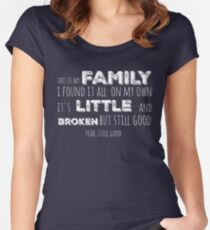 My family in white Women's Fitted Scoop T-Shirt