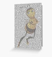 bee movie script Greeting Card
