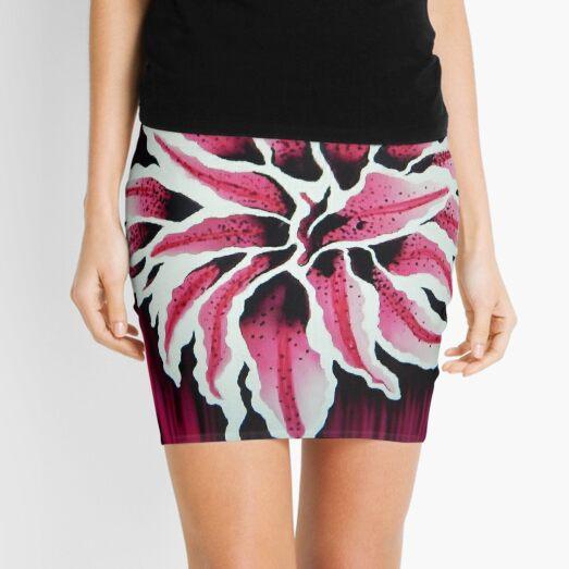 Oriental Lily Mini Skirt