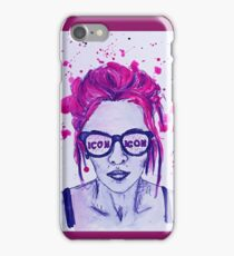 Ariel from Icon For Hire watercolour painting iPhone Case/Skin