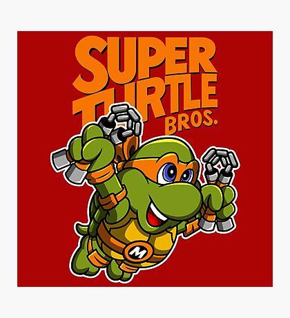 Super Turtle Bros - Mikey Photographic Print