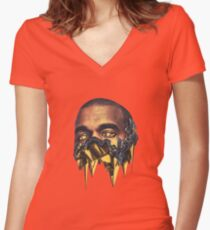 Hip Hop Women's Fitted V-Neck T-Shirt