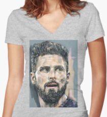Olivier Giroud - Maximum Impact Women's Fitted V-Neck T-Shirt