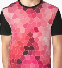 Mosaic, structure, pattern, red, purple, pink, colorful, texture, tiles, round shape, ceramic tile Graphic T-Shirt