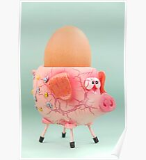 Pig Eggcup Poster