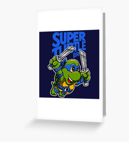 Super Turtle Bros - Leo Greeting Card