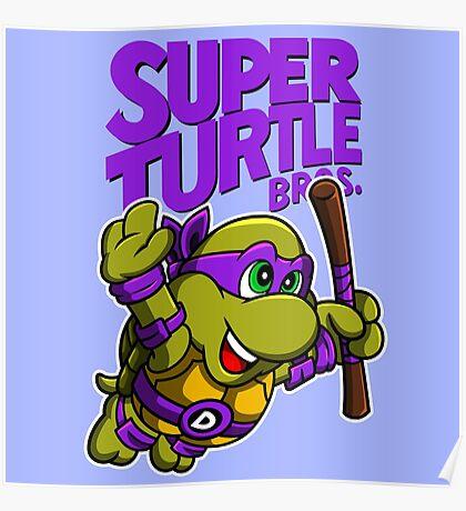 Super Turtle Bros - Donnie Poster